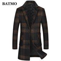 BATMO new arrival autumn&winter wool trench coat men,men's plaid wool coat,plus-size M-5XL 2975 201126