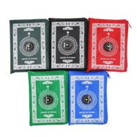 A oração islâmica Rug muçulmanos cobertores adoração portátil trançado Compass Designs Oração Tapetes Pocket Travel Rug com Compass Mat LSK2034