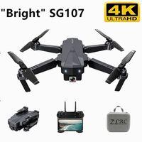 SG107 DRONE mit 4K Kamera 15 Minuten WiFi FPV HD Dual Camera Quadcopter Optische Fluss RC Dron Gesture Fernbedienung Drohnen vs F11 201221