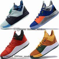 Kadın Erkek Sneakers PG 3 3 S Büyük Çocuk Erkek III George Ayakkabı 38 Çocuk EUR Eğitmenler 12 Basketbol PG3 Enfant Boyutu ABD 47 13 Kutusu Paul 46