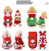 Pet Dog Santa Trajes Natal Decoração Roupas Para Pet Hoodies Cachorrinho Cats Frete Grátis