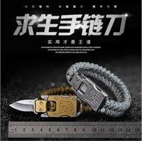 Couteau en acier inoxydable Fermoir Bracelet Transformers Seven Core Parapluie Tissée EXTÉRIEUR EXTÉRIEUR MOYENNES