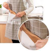 Новое анти-масло загрязнение хлопчатобумажные пищевые фартуки кухонные фартуки рестораны фартуки для женщин домашний без рукавов фартук HHE3406