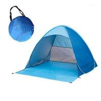 텐트와 쉼터 캠핑 해변 텐트 자동 오픈 초경량 관광 생선 UV 태양 보호 그늘 하이킹 XA242G1