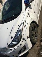 COOL! ! 6 PCS Nouvelle arrivée Autocollants de voitures 3D BULLET BULLET HOUND FUNT DOCAL COUVERTURES DE VOITURE DE MOTOLETTE DE TRAVAILLE DROIT DE BULLET BULLET DE BALLE DE BALLE ÉTAPES 001