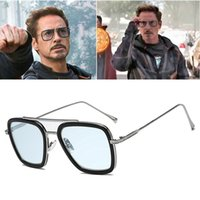 2020 Moda Tony Stark Moscas 006 Estilo Hombres Cuadrado Aviación Diseño de Fuego Gafas de Sol Oculos de Sol UV400