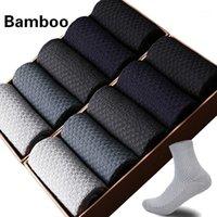 2019 Горячие Продажи Мужчины Бамбуковые Волоконные Носки Сжатие Зимние Носки Мужчины Harajuku Длинный Бамбук Для Бизнес-Платье 10 Пар1