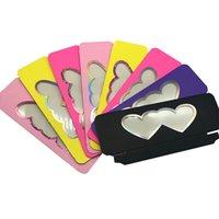 100 шт. Норковая ресница пустая упаковка коробка розовый милый двойной сердца формы сердца окна блеск лазер поддельные 3D норковые ресницы ящики новых