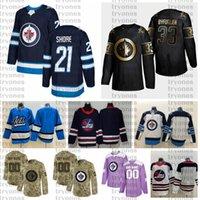 2021 Настройка # 21 Ник берег Winnipeg Jets Jerseys Golden Edition Camo ветеранов день борется с раком на заказ сшитые хоккейные изделия