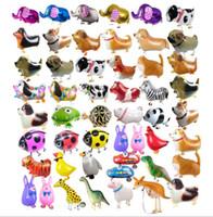 애완 동물 알루미늄 호 일 풍선 걷는 알루미늄 필름 풍선 생일 파티 장식 걷는 애완 동물 동물 풍선 크리스마스 선물 어린이 장난감