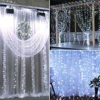 Лучший продавец 18м х 3 м 1800 светодиодный теплый белый свет романтический рождественские свадьбы открытый высоко яркости украшения занавес света белый