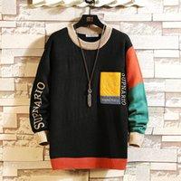 Suéter hombres streetwear retro llama patrón hip hop otoño nuevo tirón sobre spandex O-cuello de gran tamaño pareja de los hombres de los hombres casuales 5xl