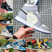 جديد عالية 1 1 ثانية كرة السلة أحذية الرجال النساء جامعة بيو هاك lightbulb الأزرق UNC براءات الأبيض الأسود الملكي تويست الأخضر تو المخاوي مصممون R69