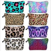 Kosmetische Tasche Leopard Digitaldruck Makeup Tasche Damen Aufbewahrungstasche Einfache Mode Reisebeutel Brieftaschen Taschen Zipper Handtasche E120407