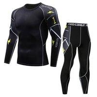 NOUVEAU modèle Sous-vêtements thermiques Hommes définit la compression Séchoir rapide Long Johns Fitness Bodybuilding Shapers LJ201109