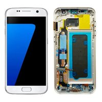 G930 LCD Orijinal Süper AMOLED Samsung Galaxy S7 SM-G930F LCD Ekran Dokunmatik Ekran Digitizer Meclisi Değiştirme Toptan Yedek Parçalar