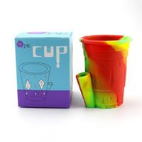 Cinzeiros de silicone colorido com caixa durável elegante casa novidade artesanato designer água acessórios para fumar