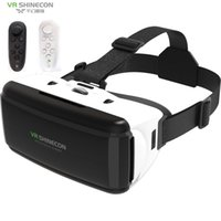 VR SHINECON BOX VR نظارات نظارات نظارات الواقع الافتراضي نظارات سماعة VR ل Google Cardboard Smartp LJ200919