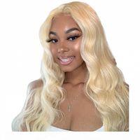 Pelucas de encaje completo rubia con cabello bebé 613 onda corporal Indian Lace Frente Pelucas de cabello humano 130% Densidad