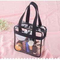 Sacchetto di stoccaggio di viaggio PVC Trasparente portatile Portable Guarda attraverso la palestra / Grocery / Bag da toilette cosmetici1
