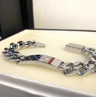 2020 Braccialetti a catena di vendita calda per uomini Donne Donne in acciaio in acciaio Braccialetto Braccialetto Braccialetto moda argento gioielli amante regalo (senza scatola)