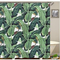 Hot Watercolor Tropical Monstera Leaf Shower Curtain Green Plant Leaf Bathroom Curtain Banana Palm Leaves Home Bathroom Decor