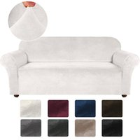 Chair Covers Velvet Stretch Sofa Cover For Living Room Couch Slipcover Furniture Protector Case Elastic 1/2/3/4 Seater