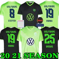 Neue 20 21 VFL Wolfsburg Fussball Jersey Weghorst Arnold 2020 2021 Malli Brekalo Football Hemd Mehmedi Fußball Hemd Guilavogui Xaver Trikots