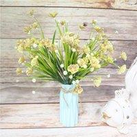 Decorative Flowers & Wreaths 40 Cm Large Thai Orchid Bouquet Wedding Home Decoration Accessories Artificial Fake Plant