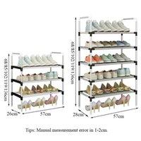 رف بسيط مع الدرابزين سهلة تجميع الأحذية تخزين الجرف توفير الفضاء المنظم الأحذية بالقرب من الباب Y200527