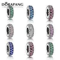 2021 NUEVO 100% 925 Sterling Silver Inspiration Spacer Clips Charm Beads Fit Pulsera Original Colgante Auténtica Joyería Regalo Mujeres