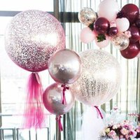 حزب الديكور كوتشانغ 1 قطع 18 بوصة النثار البالونات كرات الهواء عطلة عيد الحب الاحتفال زفاف عيد ميلاد ديي