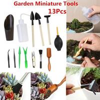 Equipos de riego 13pcs Mini Garden Herramientas de mano Trasplantando herramienta en miniatura suculenta