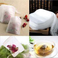 100PC / Pack Tea Filter Väskor Engångsdragning Påse Non-Woven Multifunktionsdragning Tea Väskor 5 * 7cm Tätning Tea Strains CCA126267