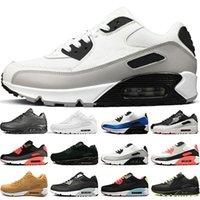 Koşu Ayakkabıları Erkek Eğitmenler Üçlü Siyah Beyaz Mavi Gri Yüzey Nefes Erkek Kadın Sneakers Spor Boyutu 5.5-11