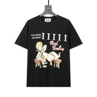 DUYOU 2021SS 새로운 T- 셔츠 남성 및 여성의 티셔츠 미친 쿠키 편지 로고 반팔 탑스 티 브랜드 의류 XS-L FZW81546