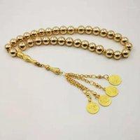 Perles, Strands Hématite naturel Golden Tasbih Golden Gold Preads Perles 33 66 99 Piermes Eyes Tassels Rosary1
