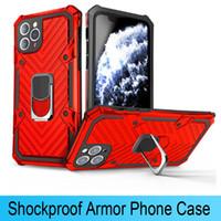 Mais novo Caixa de telefone de blocos à prova de choque para iPhone 12 mini prox 11 pro 7 8 xs max xr dedo anel magnético carro suporte anti capa dhl livre