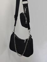 HBP حقيبة الكتف محفظة بطاقة كيس رسول حقيبة يد المرأة أكياس حقيبة جديدة مصمم حقيبة عالية الجودة الملمس الأزياء سلسلة النايلون القماش