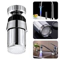 3 Color Luz Cambio Cambio Sensor Grifo Glow Water Tap 7 Colores Luminoso Luz LED Agua Grifo Ducha Grifo