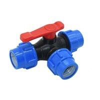 """Équipements d'arrosage 20/22/32/40/50 / 63mm PVC PE TUD TEE TEE TEE Splitter 1/2 3/4 1 """"1,25"""" 1,5 """"2"""" Connecteur en forme de tension en forme de T-de tuyau 1 pcs"""