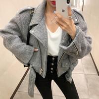 2020 NOUVEAU Design Femme Cool Fashion Turn Collier Moto de laine Casacos Casacos