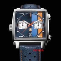 Deri Kayış Spor Etiketi Japon Kuvars Chronograph Moxment Moda Saatı Monaco Ls Tasarımcı Erkek Saatler Erkekler İzle