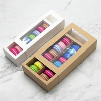 Macaron Box 2 Tailles Papier Chocolat Biscuits Boîtes Muffin Emballage Cadeau de vacances Fournitures de maison
