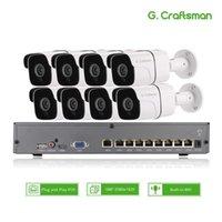 أنظمة 8CH 5MP الصوت poe كيت H.265 نظام الأمن الدوائر التلفزيونية المغلقة NVR في الهواء الطلق للماء IP كاميرا مراقبة إنذار الفيديو تسجيل الفيديو G.1