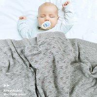 Baby Coperte in tessuto lavorato a maglia in cotone per neonati per neonati Swaddle passeggino coperta vestiti Cobertor infantil wrap mensile bambini trapunta LJ200819