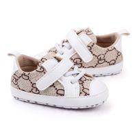Sapatos de bebê moda couro bebê casual sapatos anti deslizamento artesanal menino recém-nascido sapatos primeiros caminhantes 0-18months