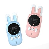 Cute Rabbit Appearance Handheld Walkie Talkie 20 Channels Parent-Child Fancy Interactive Tools Children Wireless Intercom With Flashlight Pink and Blue Optional