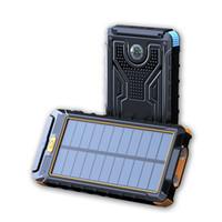 20000mAh Solar Power Bank Ladegerät Externe Backup-Batterie mit Kleinkasten für iPhone iPad Samsung Handy Freies Verschiffen