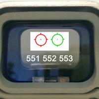 المجسم الأحمر / الأخضر نقطة البصر بندقية نطاق مع السكك الحديدية 20 ملليمتر يتصاعد الادسنس